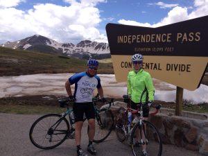 Scott and Jenny Indy Pass bike