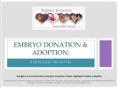 Webinar: Embryo Adoption: Dispelling the Myths